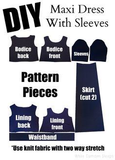 Fool proof maxi dress tutorial.  Love this blog!