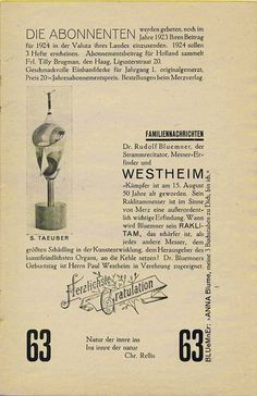 Dada Periodicals - Merz - Kurt Schwitters http://www.pinterest.com/smithlili/dadaismo/