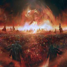Guild-Wars-2-Path-of-Fire-cinematic-art-Simon-Goinard-pyre-1.jpg (1400×1400)