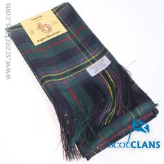 Pure wool sash in Kennedy modern tartan - available from ScotClans