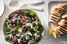 Healthy Recipe: Kale Caesar w/Grilled Chicken & Crispy Chickpeas (via @Fitbit) https://blog.fitbit.com/healthy-recipe-kale-caesar-with-grilled-chicken-crispy-chickpeas/