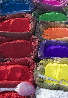 A rainbow of colours. Pashupatinath, in Kathmandu, Nepal.
