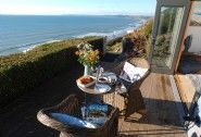 Luxury cliff top beach hut overlooking Whitsand Bay