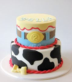 toy story cake - Love the belt buckle  cow print