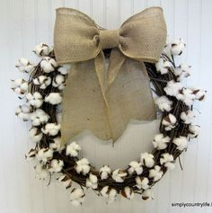 how to make your own cotton ball branch wreath, crafts, diy