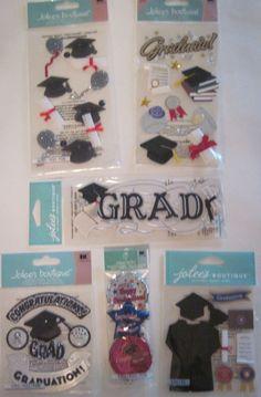 Jolee's Boutique Scrapbooking Stickers Lot Graduation Cap Gown Awards Diploma…