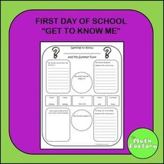 Directions for Use:Have each student put his or her name on the blank at the top of the page.They are to write and fill in the four corner boxes with experiences from their summer vacation.The circles and rectangles provide numerical information about the student.