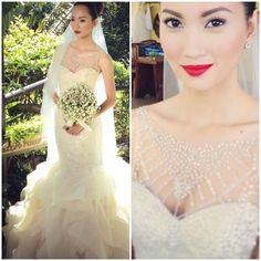 Gown by Veluz  Hair and Make-up by Madge Landrito Lejano and Steve Pagsanjan of The Makeup Studio Team by: Madge