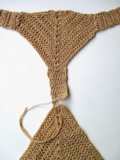 ARTEFAKTEJA ja ajatuksenpoikasia omⒶksi ja toistenkin ILOKSI ':D Crochet Bikini Bottoms, Crochet Shorts, Crochet Crop Top, Crochet Clothes, Crochet Art, Crochet Stitches, Crochet Patterns, Bikini Inspiration, Smocking Tutorial