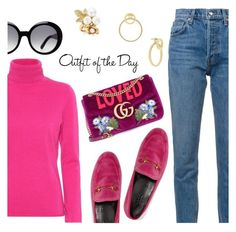 """""""Outfit of the Day"""" by dressedbyrose ❤ liked on Polyvore featuring Jardin des Orangers, 10 Crosby Derek Lam, Gucci, Tod's, Oscar de la Renta, Cole Haan, Petit Bateau, ootd and polyvoreeditorial"""