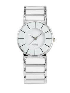 White Alloy Analog Plastic Sport Wrist Watch