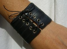 Bicycle Tube LaceUp Cuff by VeloCycled on Etsy