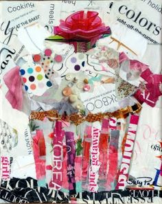 Suzy 'Pal' Powell Watercolors and Collages: Torn Paper Collage Workshop