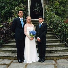 (L-R)Gary Christie Lewis, Lady Davina Windsor and Ari Lewis(his son from previous relationship). They wed on 21 July 2004