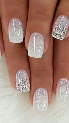 Chic Nails, Stylish Nails, Trendy Nails, Bride Nails, Wedding Nails, Bridal Toe Nails, Bridal Nails Designs, Nagellack Design, Pretty Nail Art