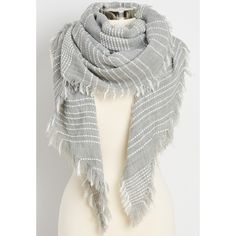 maurices Knit Scarf With Dot Stripes And Raw Edges, Women's, (25 CAD) ❤ liked on Polyvore featuring accessories, scarves, knit scarves, striped scarves, striped shawl, maurices and polka dot scarves