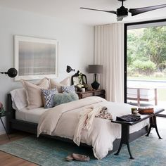 Turquoise and white bedroom | Bedroom decorating | Livingetc | Housetohome.co.uk
