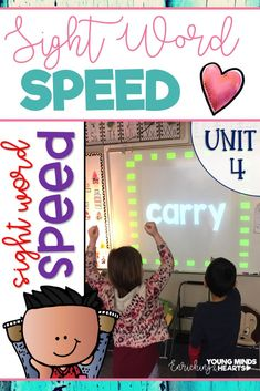 Movement, intrigue, suspense, and technology-based = sight word practice made for today's students. Keep your students engaged and motivated while they practice reading high-frequency words in this game of Speed. It can be played in a multitude of ways, m