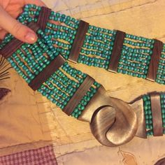 Boho-chic beaded belt Stretchy. Wood. Very cute Accessories Belts