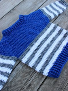The Striped Fisher Sweater – coastal mist creations Crochet Toddler Sweater, Crochet Baby Sweater Pattern, Crochet Baby Sweaters, Baby Boy Knitting Patterns, Baby Boy Sweater, Baby Sweater Patterns, Crochet Baby Clothes, Crochet For Boys, Crochet Jacket