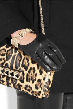 Valentino | Rockstud leather gloves | NET-A-PORTER.COM