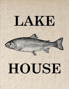 Trout Fish Lake House Digital Download for Iron by PetitePaperie, $1.50