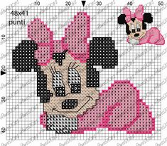 Minnie punto croce impressionante cross stitch wall hanging with Baby Cross Stitch Patterns, Cross Stitch For Kids, Cross Stitch Charts, Crochet Blanket Patterns, Baby Blanket Crochet, Valentine Gift Baskets, Baby Mickey Mouse, Baby Art, Plastic Canvas Patterns