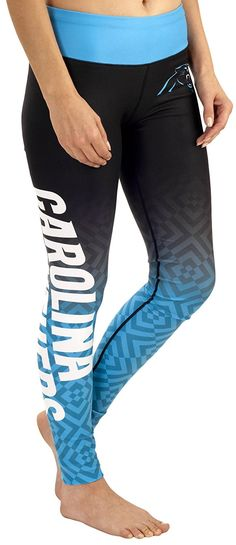 7483291af Amazon.com : NFL Women's Gradient Print Leggings : Sports & Outdoors  Panthers Vs