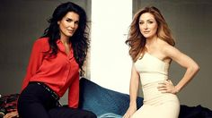 Wow, this is a hot picture! OMG! Angie Harmon as Det. Jane Rizzoli and Sasha Alexander as Dr. Maura Isles