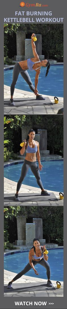 This intense at home kettlebell workout is perfect for full body toning!