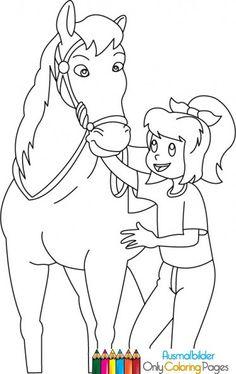bibi und tina ausmalbilder pferde