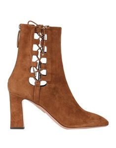 Suede effect No appliqués Solid color Zip Round toeline Geometric heel Leather lining Leather sole Contains non-textile parts of animal origin Textiles, Brown Ankle Boots, Suede, Aquazzura, World Of Fashion, Luxury Branding, Soft Leather, Shoe Boots, Your Style
