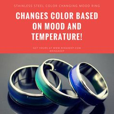 This stunning ring changes color depending on the wearer's mood and body temperature, which is sure to make an eye making impression!  Available in sizes 6 to 10.  Worldwide Shipping! 🌐🌐🌐  #ring #rings #ringkeep #mensrings #mensring #fashion #accessories #style #fashionaccesories #womensring #moodring #colorchangingring