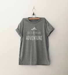 Lets go on an adventure womens T-Shirt gifts girls instagram tumblr hipster band merch fangirls teens fashion girlfriends birthday christmas present (Design is printed on front of the shirt and Sleeves are rolled up manually) ►Measurement ►Size XS - Bust 35 inches or 89 cm - Length 25 #girlfriendbirthday