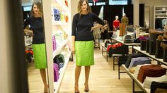 Jenna Lyons, president of J. Crew, is photographed at the retailer's new location in Yorkdale Mall in Toronto