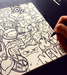 Pin de a p i x x a en doodle × en 2019 граффити, рисунок y лофт. Cute Doodle Art, Doodle Art Designs, Doodle Art Drawing, Art Drawings Sketches, Cute Drawings, Graffiti Doodles, Graffiti Drawing, Graffiti Lettering, Graffiti Art