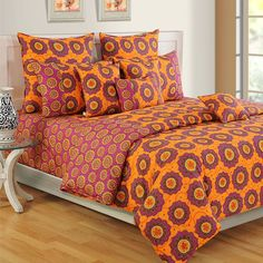 #Coral Treat #ColorsOfLife #BedSheets- 2412
