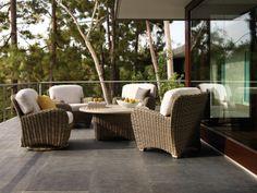 Outdoor wicker furniture. www.avdesignsgarden.com