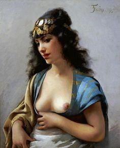 Luis Riccardo Falero - An Eastern Beauty - Fine Art Print