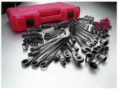 Craftsman 115 pc Universal Mechanics Tool Set Sockets Wrenches SAE Metric Case