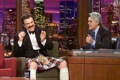 Actor Tom Selleck during an interview with host Jay Leno on December 30, 2002 --