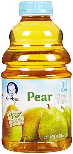Gerber Juice-Pear-32 Fluid Ounces-6 Pack