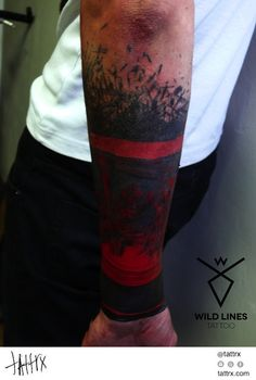 Dodo / WildLinesTattoo - Black and Red Trash Sleeve