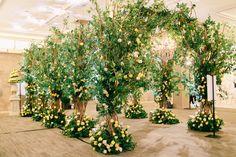 WedLuxe Show 2016 - La Dolce Vita - The Grand Entrance - WedLuxe Magazine Wedding Entrance, Entrance Decor, Grand Entrance, Wedding Aisles, Floral Wedding, Rustic Wedding, Wedding Flowers, Forest Wedding, Javanese Wedding