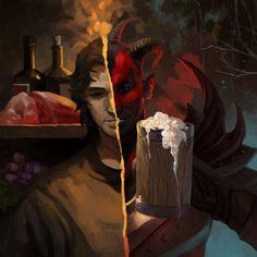 - Sanguine by XinYu Jiang on ArtStation. The Elder Scrolls, Elder Scrolls Games, Elder Scrolls V Skyrim, Skyrim Fanart, Daedric Prince, Tes Skyrim, Skyrim Funny, Video Game Art, Video Games