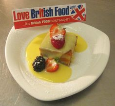 British inspired bread and butter pudding with toffee custard from @moorhallhotel. Very tempting! #LoveBritishFood #Food