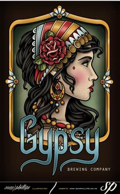 This is a logo design I created for Gypsy Brewing Company. Copyright Gypsy Brewing Company.