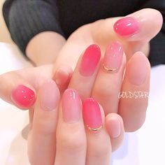 Would you like some candy, Ladies? Love Nails, Pink Nails, Pretty Nails, Faded Nails, Jelly Nails, Japanese Nails, Cute Acrylic Nails, Stylish Nails, Perfect Nails