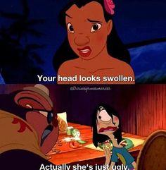 Lilo and Stitch. Bahahahahahahahahahaha!