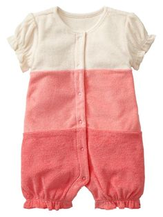 Gap | Colorblock ruffle terry one-piece